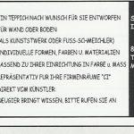 Teppich-Anzeige 1992